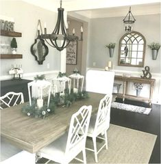 Farmhouse dining room chandelier dining room chandelier farmhouse farmhouse dining room decor ideas and tips modern Farmhouse Dining Room Lighting, Dining Room Table Decor, Dining Room Design, Dining Tables, Kitchen Decor, Kitchen Dining, Diningroom Decor, Kitchen Sink, Simple Dining Table