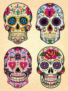 "Artsclusive presents ""Sugar Skulls"" an 18x24 wall art available on canvas, art print and poster (scheduled via http://www.tailwindapp.com?utm_source=pinterest&utm_medium=twpin&utm_content=post107175305&utm_campaign=scheduler_attribution)"