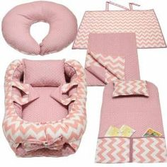"""""""sewing for baby"""" Baby Nest Bed, Baby Doll Bed, Quilt Baby, Baby Set, Kit Bebe, Baby Sewing Projects, Baby Pillows, Baby Essentials, Baby Accessories"""
