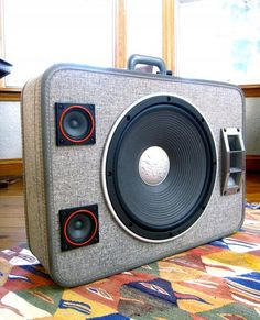 Suitcase Converted Boombox by Mr. Simo