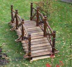 Мостик Преданья старины глубокой - мостик,мост,садовые миниатюры,деревянные миниатюры