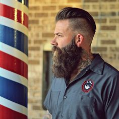 That's what you call a beard! Hair Trends 2015, Mens Hair Trends, Epic Beard, Sexy Beard, Beard Haircut, Fade Haircut, Great Beards, Awesome Beards, Hair And Beard Styles
