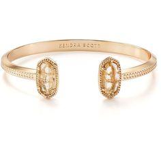 Kendra Scott Elton Cuff (1.145 ARS) ❤ liked on Polyvore featuring jewelry, bracelets, gold, cuff bangle, kendra scott, kendra scott jewelry, cuff jewelry and polish jewelry