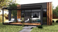 Theo 30 kvm är Modulhus senaste tillskott i Attefallshusfamiljen. Huset är byggt och isolerat för åretruntboende och briljerar genom att ha en unik planlösning som möjliggör övernattningsmöjlighet för upp till 6 personer genom att ha 2 stycken separata sovloft med fyra sovplatser och en bäddsoffa på nedre plan.  Zen, Gazebo, Pergola, Prefab Modular Homes, Tiny House Cabin, Tiny Houses, Bungalow, Beach House, Cottage