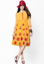 Yellow Embroidered Dresses