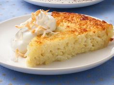 Enjoy a scrumptious coconut pie that's impossibly easy to make because there's no crust to roll.