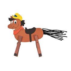 Clothespin Horse Craft Kit - OrientalTrading.com