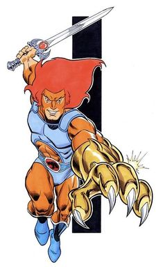 cartoons logos Lion-O, Lord of the ThunderCats, by Ron Frenz Best 80s Cartoons, Classic Cartoons, Animated Cartoons, Comic Books Art, Comic Art, Desenhos Hanna Barbera, Thundercats Cartoon, Cartoon Dragon, Funny Tattoos