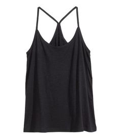 Wide-fitting, racerback tank top in slub jersey with narrow shoulder straps.