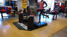 Nike Zoom Structure 18 retail plinth display sports shoe display engage zone.