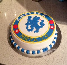 Fc chelsea cake for my brother in law