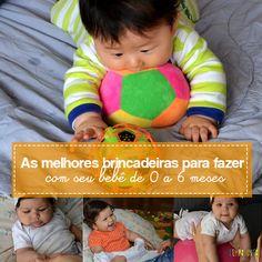 Desde recém nascidos os bebês podem brincar. Aproveite, então, estas dicas com as melhores brincadeiras para bebês de 0 a 6 meses