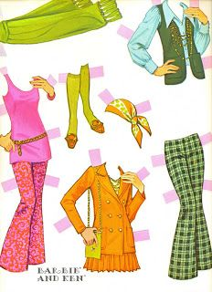 VintageVixen.com Vintage Clothing Blog: Straight out of the 70s... Its Barbie and Ken!