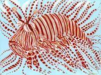 Leo the Lion Fish Art Print by Mississippi Artist Erika Johnson 11 x 14 inches ( 279.4 x 355.6 mm). $15.00, via Etsy.