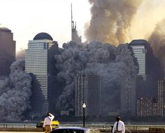 9/11 collapsing towers | From across the Hudson, people watched the burgeoning North Towerdust ...