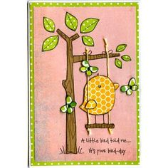 Woodware - Funny Bird, Doodlebug Kraft in Colour papers.