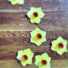 Daff bunting - St David's Day craft - dydd Gwyl Dewi Sant
