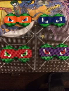 Teenage Mutant Ninja Turtles perler bows by SpikesSpecialtys