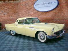 1957 Ford Thunderbird--I have the pleasure of getting to drive one that looks exactly like this one.