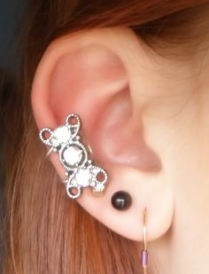 Triple Diamond Ear Cuff. $15.25, via Etsy.