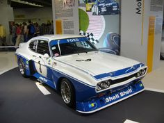 Ford Capri RS 3100. 3,4-liter Cosworth GAA-engine, based on the Ford 3,0 Essex V6-engine.