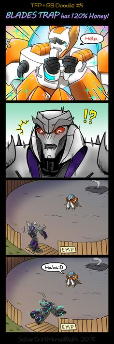 [TFP+RB] Blades Trap [Doodle5] by SolarGirlMina on DeviantArt