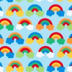 Rainbows Red - Wonder Cotton Fabric, Robert Kaufman 1/2 Metre