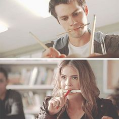 How can you not ship them? Stiles Y Malia, Teen Wolf Malia, Malia Hale, Teen Wolf Boys, Teen Wolf Dylan, Wolf Girl, Dylan O'brien, Series Movies, Tv Series