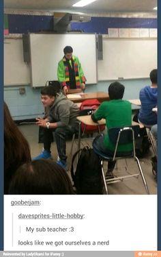 I wonder if he teaches english