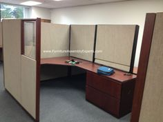 Used Office Cubicles Embled In Loudoun County Va By Furniture Embly Experts Llc