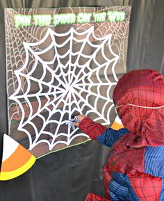 """""""Pin the Spider"""" Halloween party game"""