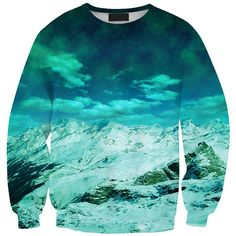 Chicnova Fashion Crew Neck Print Sweatshirt (865 INR) ❤ liked on Polyvore featuring tops, hoodies, sweatshirts, sweat shirts, sweatshirt hoodies, crewneck sweatshirt, blue top and blue print top