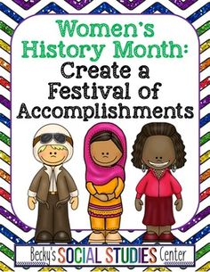 FREE Women's History Month for Middle School - Festival of Achievements Create A Brochure, Enrichment Activities, Time To Celebrate, Women In History, Teacher Newsletter, Teacher Pay Teachers, Social Studies, Teaching Resources, Middle School