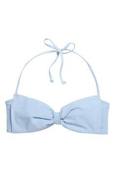 Top de bikini bandeau con lazo | H&M
