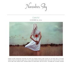 Premade Blogger Template  NOVEMBER SKY  by LisasMenagerie on Etsy, $35.00 Blog Layout, Blogger Templates, November, Sky, Graphic Design, Artwork, Photography, Ideas, November Born
