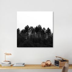 Discover «Crest», Numbered Edition Canvas Print by ARTbyJWP via Curioos #homedecor #wallart #walldeco #decoration #minimal