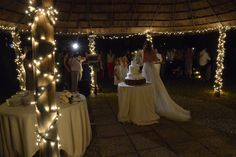 Lighted gazebo for a romantic cut of the cake