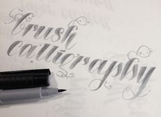 Brush lettering with a Faber Castell Pitt Pen
