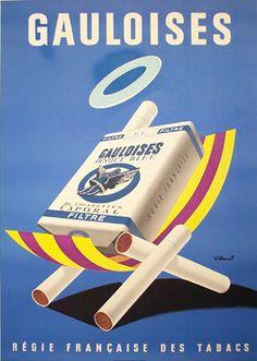 Gauloises par Bernard Villemot, 1957.