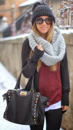 Warm casual winter outfit fashion with scarf……….this is so you, all dressed up and everywhere to go