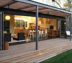 nice awning for one of the houses im going to look at..... Fotos de Techos: fotos de estructuras metalicas para techos