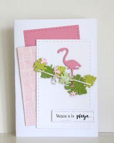 "Necureuil: Tampons et matrices de coupe (dies) #4enscrap ""Sous les tropiques & Vamos a la playa"" Mini Scrapbook Albums, Mini Albums, Emotions Cards, Exotic Wedding, Crazy Bird, Die Cut Cards, Thing 1, Card Making Inspiration, Handmade Birthday Cards"