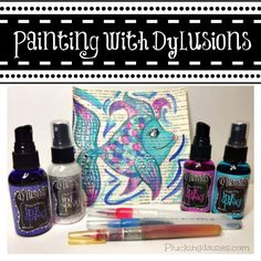 Painting with Dylusions | Plucking Daisies