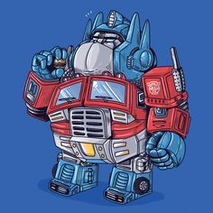 Alex Solis - The Famous Chunkies Optimus Optimus Prime, Geek Art, Nerd Geek, Cartoon Drawings, Cartoon Art, Fat Cartoon Characters, Alex Solis, Fat Character, Favorite Cartoon Character
