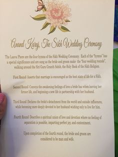 Sikh wedding … Wedding Stationary, Wedding Invitation Cards, Wedding Programs, Wedding Ceremony, Outdoor Ceremony, Farm Wedding, Boho Wedding, Invites, Punjabi Wedding Decor