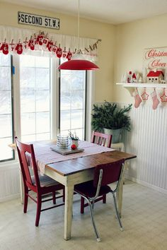 Happy At Home: Front Porch and Kitchen Holiday Décor the mitten banner