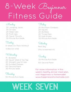 Beginner Fitness Jumpstart: Week 7 - Happiness is Homemade