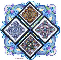 Ink Circles - Four Seasonal Mandalas