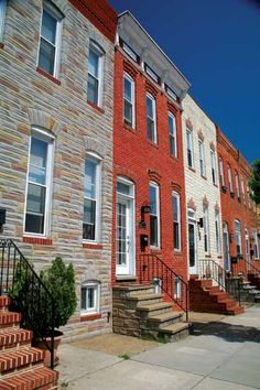 Old Baltimore Row homes; brick and formstone