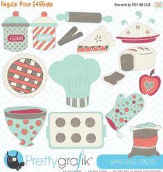 80% OFF SALE Baking clipart commercial use, vector graphics, digital clip art, digital images  - CL354